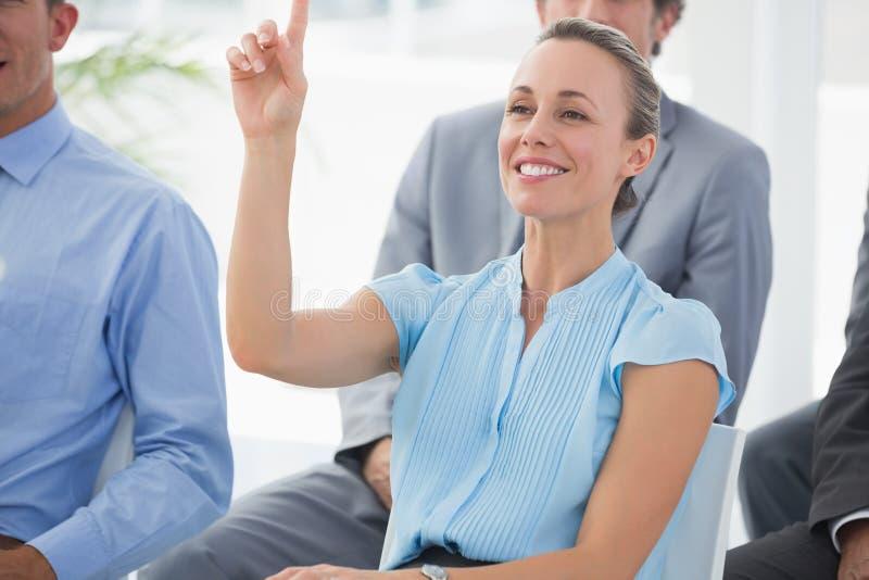 企业队听的会议介绍 库存照片