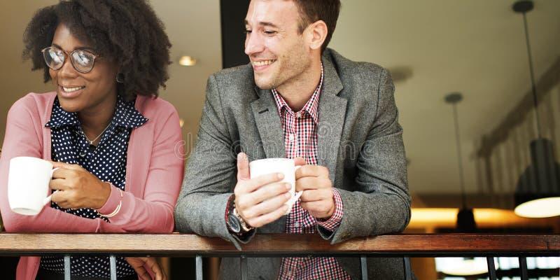 企业队咖啡休息放松概念 免版税图库摄影