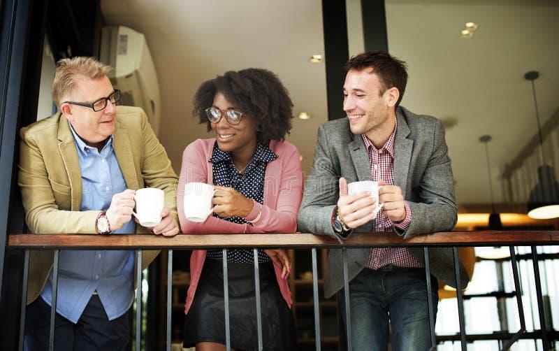企业队咖啡休息放松概念 库存照片