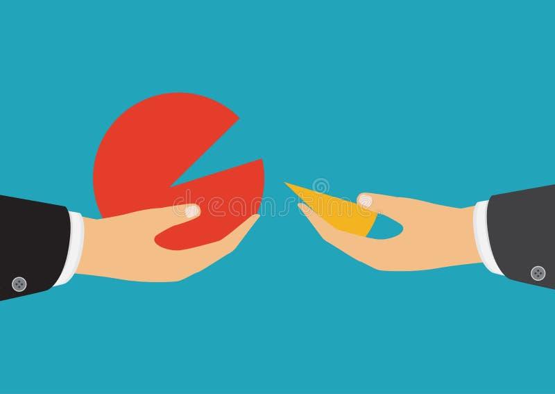 企业队工作概念 向量 举行一部分的手 向量例证