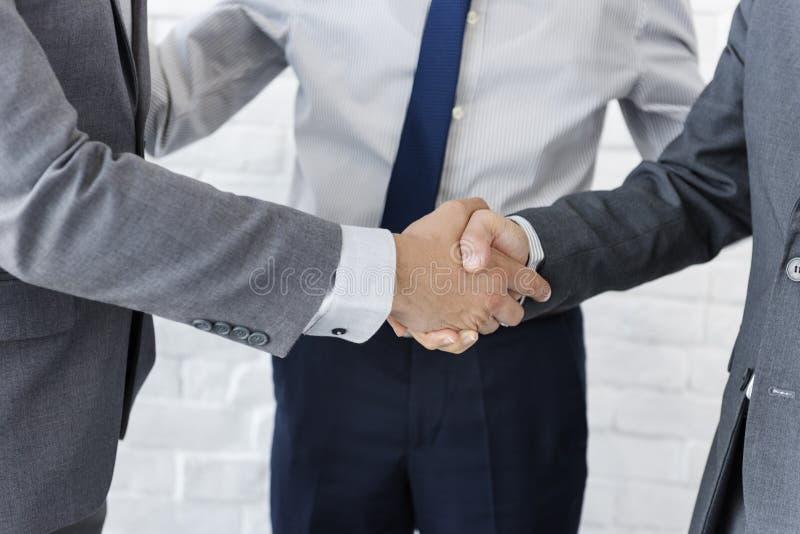 企业队握手合作概念 图库摄影