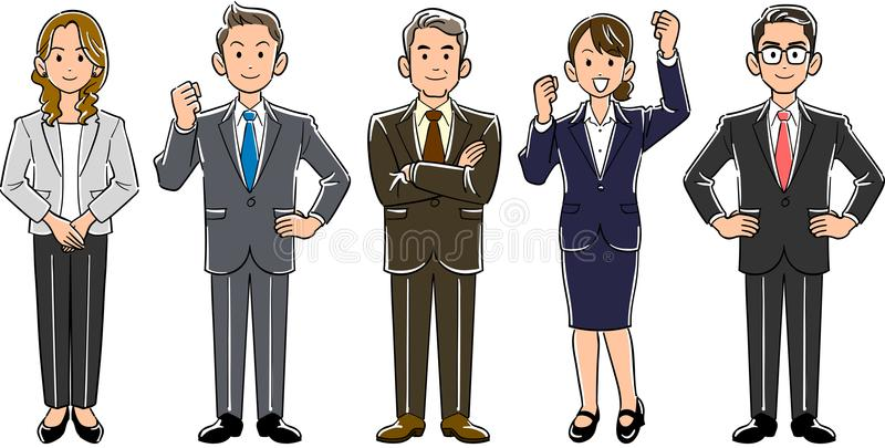 企业队男人和妇女 向量例证