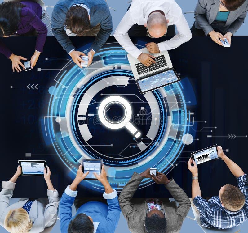 企业队连接技术网络概念 免版税库存照片