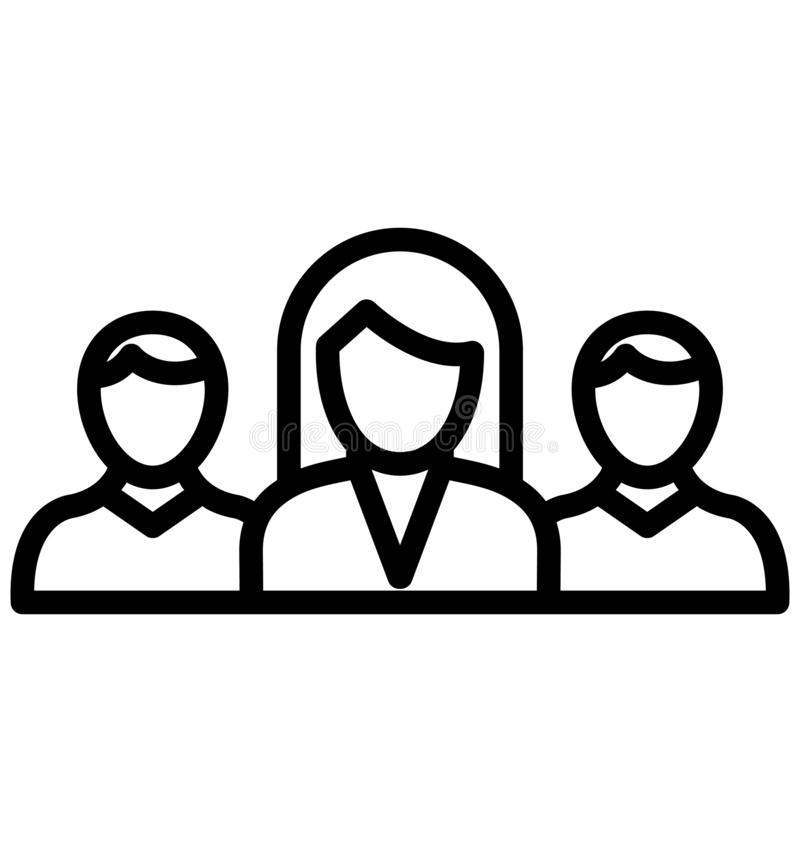 企业队隔绝了可能容易地修改或编辑的传染媒介象 库存例证