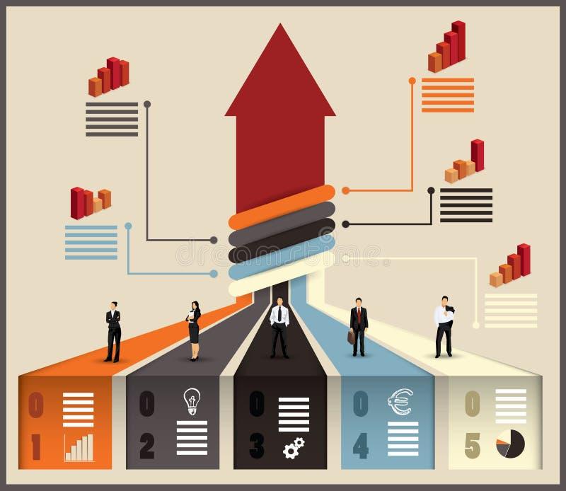 企业队infographic的流程图 向量例证