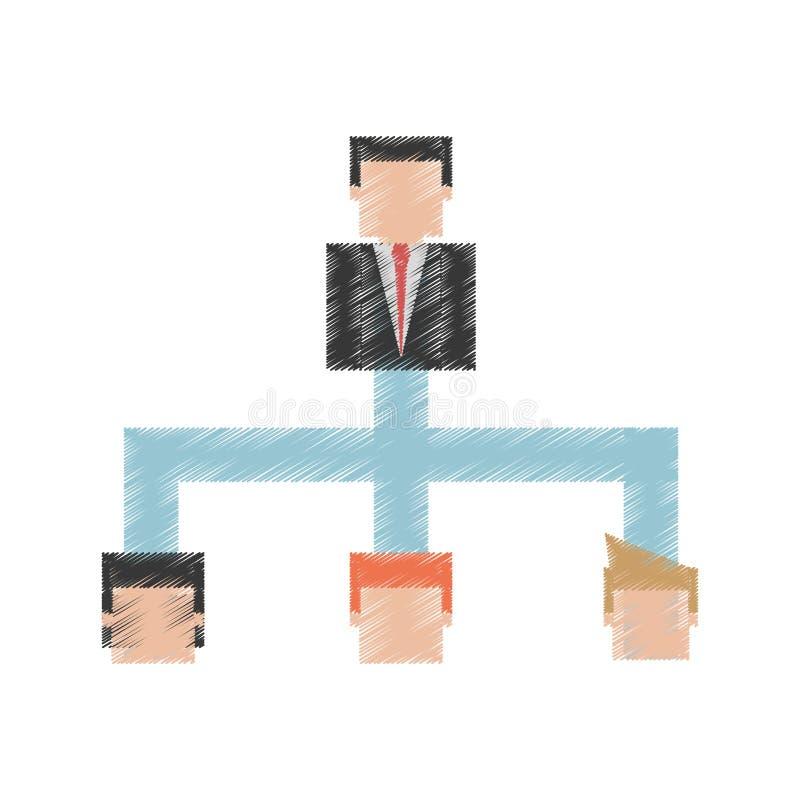 企业阶层相关象图象 库存例证