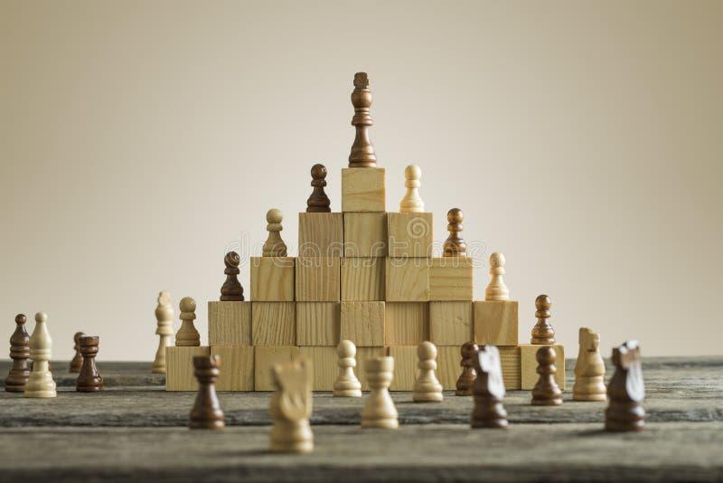 企业阶层;等级和战略概念 库存照片