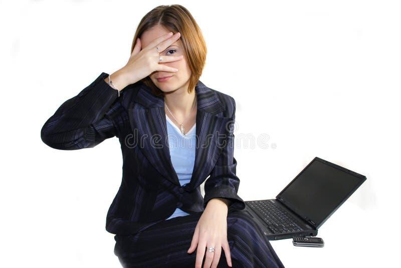 企业隐藏的妇女 免版税库存照片