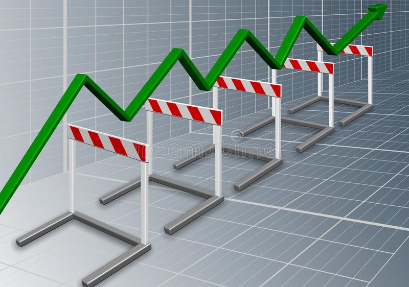 企业障碍 向量例证