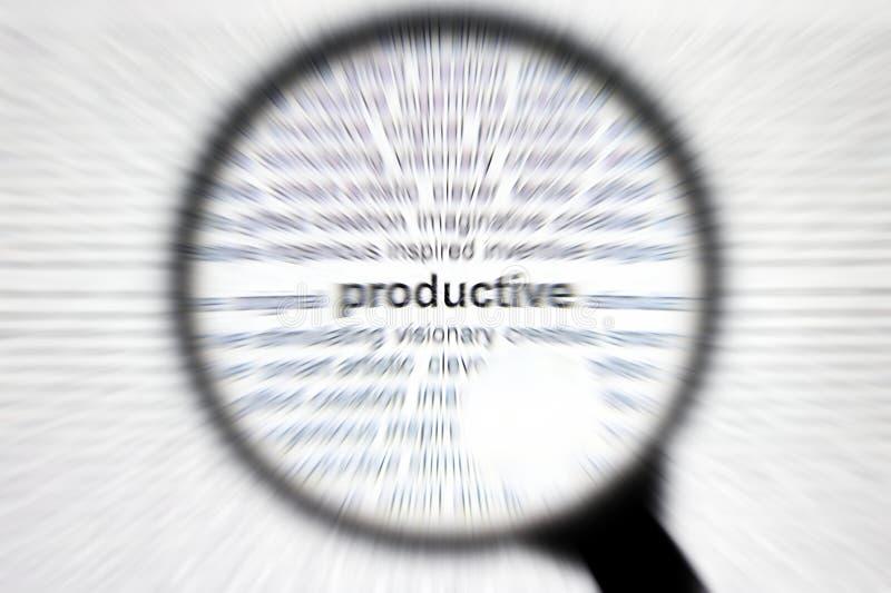 企业集中有生产力概念的重点 库存图片