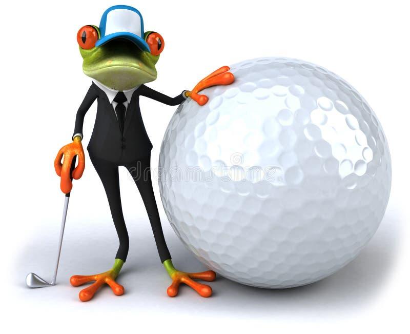 企业青蛙 向量例证