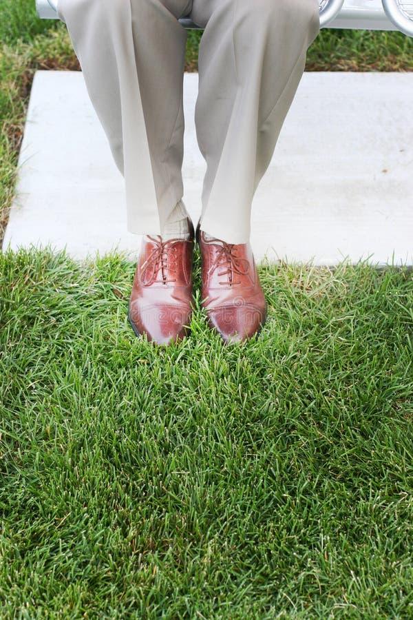 企业鞋子 免版税图库摄影