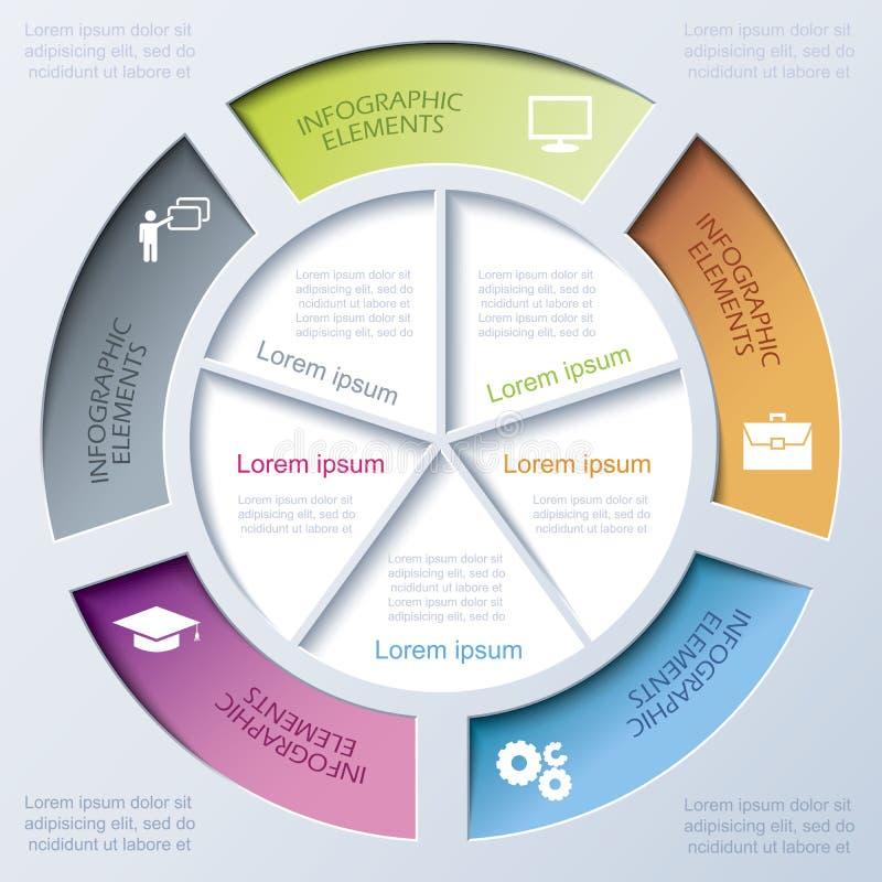 企业项目或介绍的抽象现代模板 库存例证