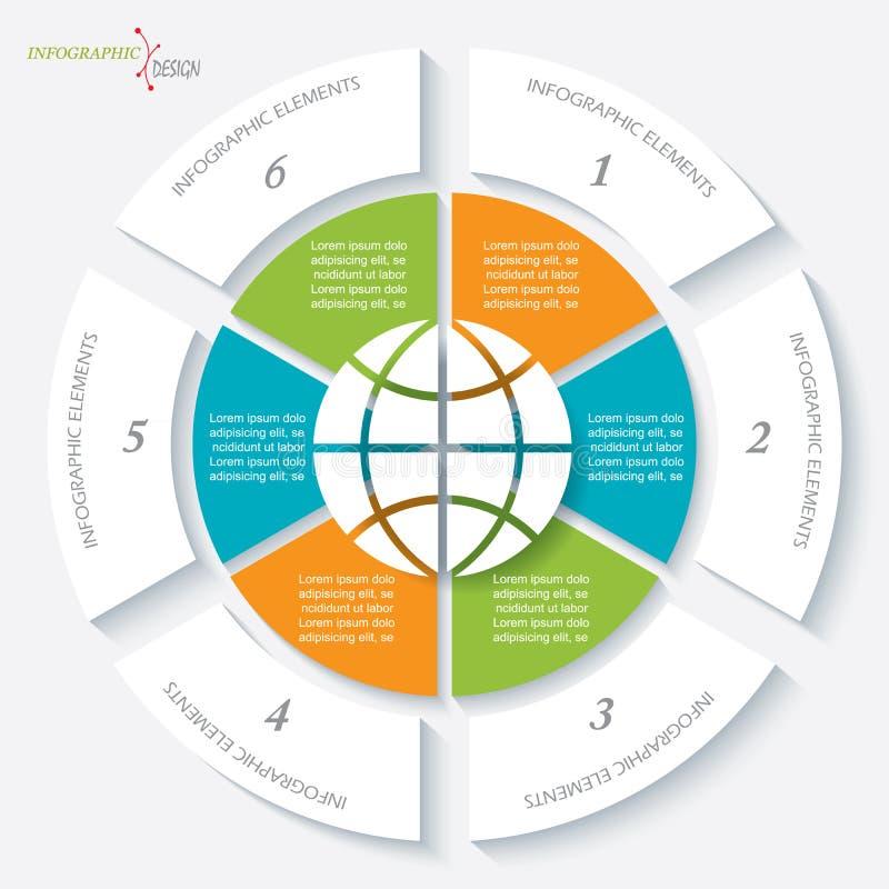 企业项目或介绍的Infographic模板 皇族释放例证