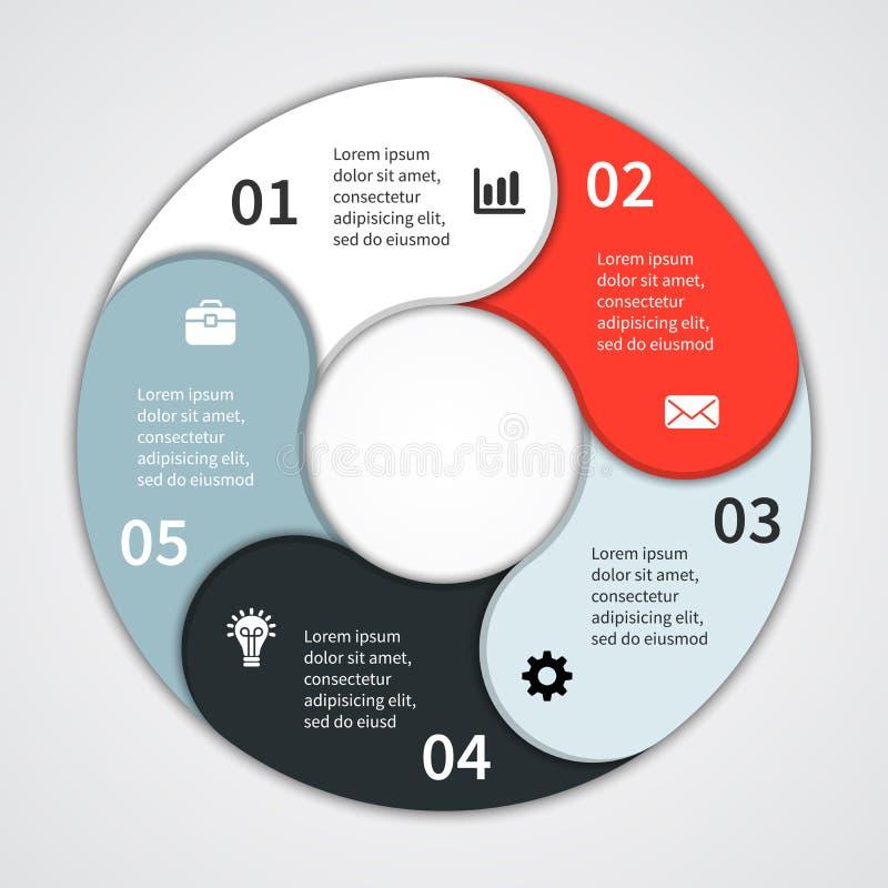 企业项目的现代信息图表 向量例证