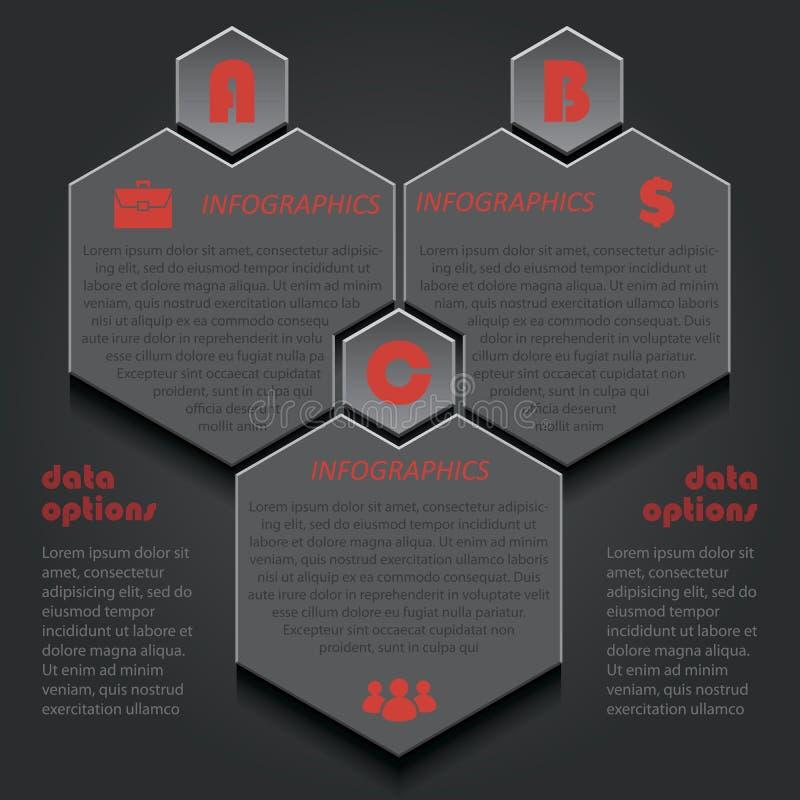 企业项目的Infographic模板或介绍与 皇族释放例证