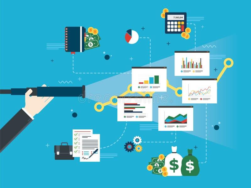 企业预言和视觉概念 向量例证