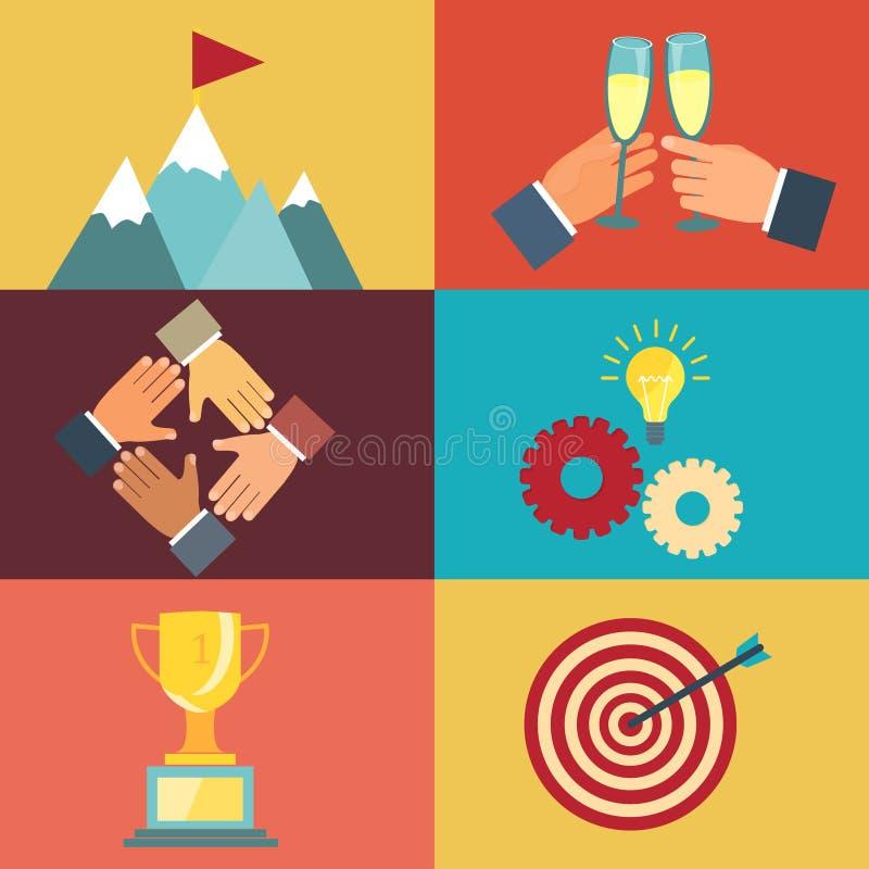 企业领导例证 向量例证