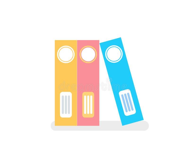 企业颜色文件办公室文件夹隔绝了象 皇族释放例证