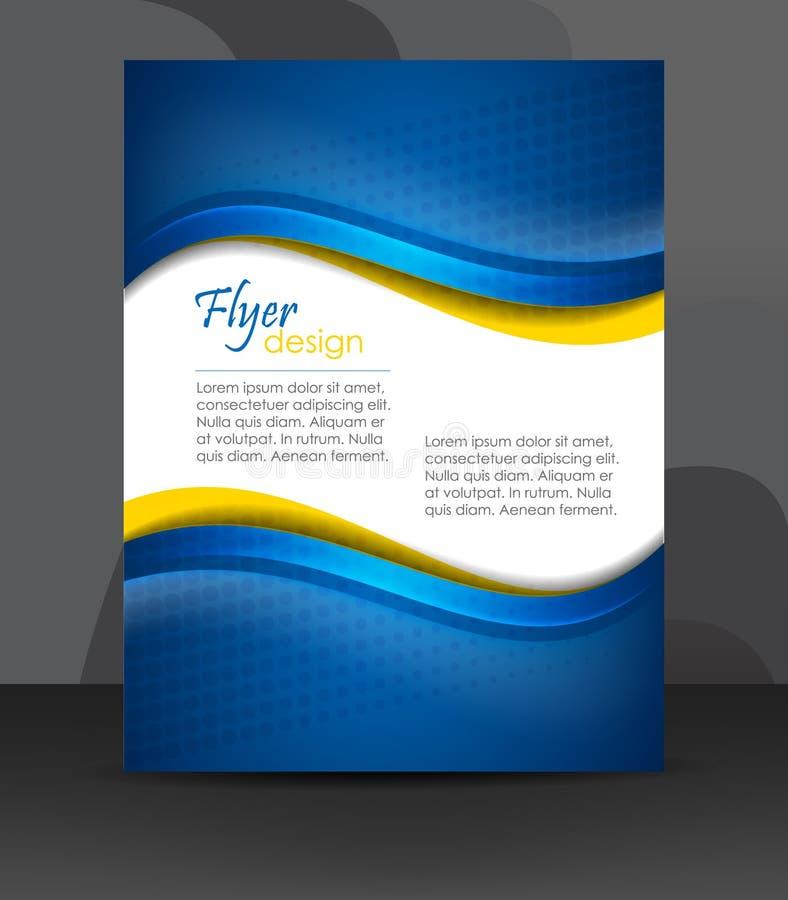 企业飞行物模板或公司横幅,盖子设计,小册子 向量例证
