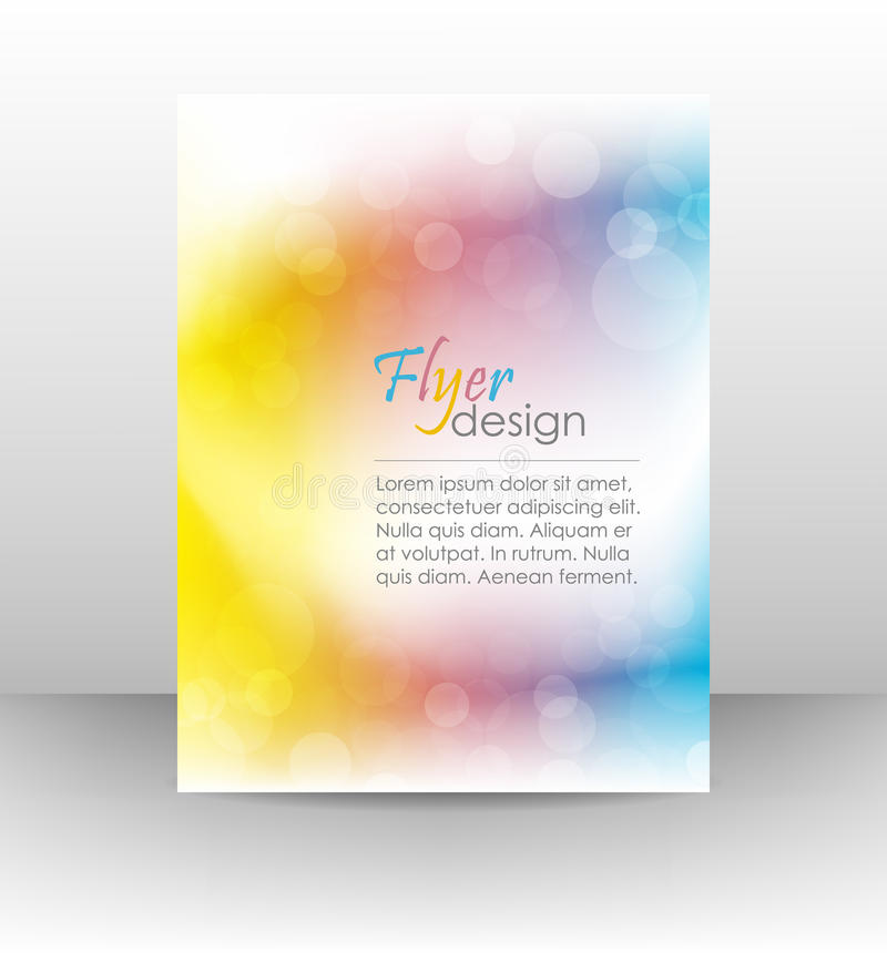 企业飞行物模板或公司横幅,盖子设计 库存例证