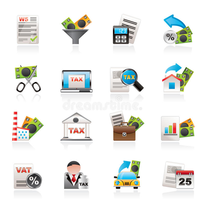 企业财务图标税务 库存例证