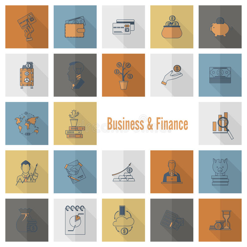 Download 企业财务图标集 向量例证. 插画 包括有 看板卡, 平面, 法律, 营销, 货币, 协议, 借项, 美元 - 59107466