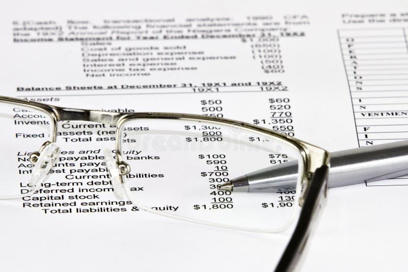 企业财务数据分析 库存图片