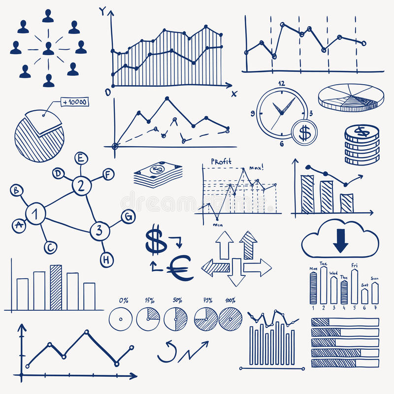 企业财务管理infographics乱画 皇族释放例证