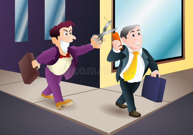 企业破坏活动 向量例证