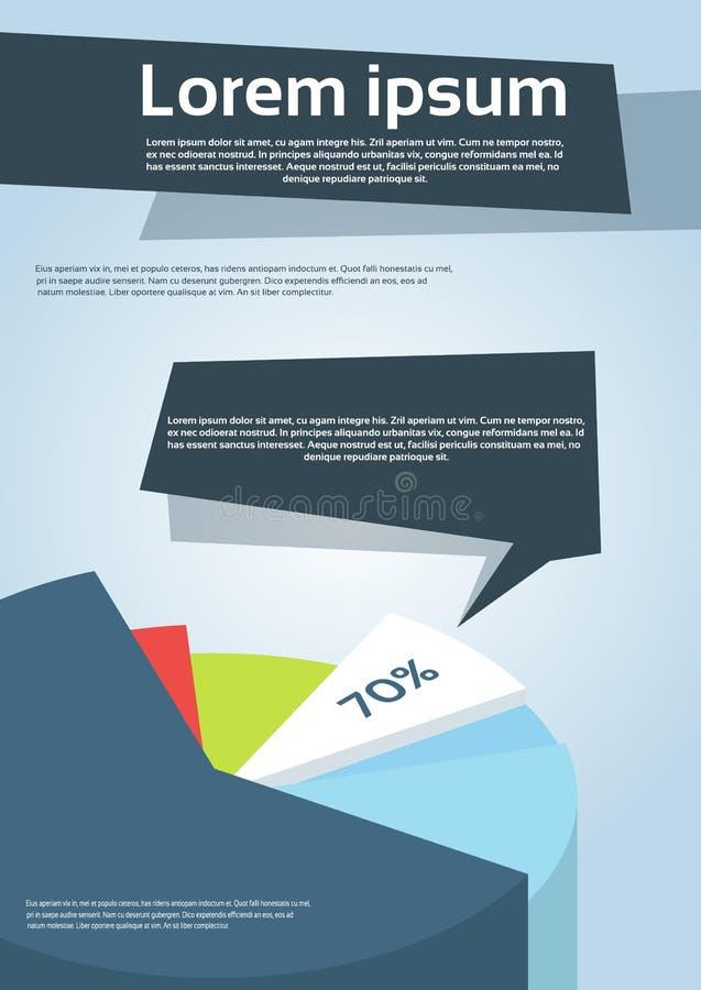 企业财政图表飞行物盖子设计页 向量例证