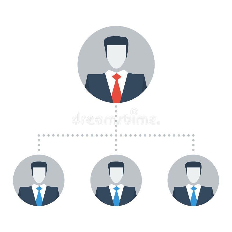 企业结构、公司概况主任和雇员, 向量例证