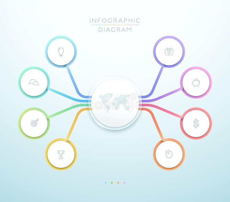 企业8步3d圈子Infographic传染媒介图 皇族释放例证