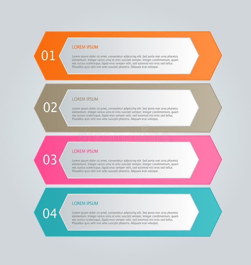 企业介绍的infographics模板 库存例证