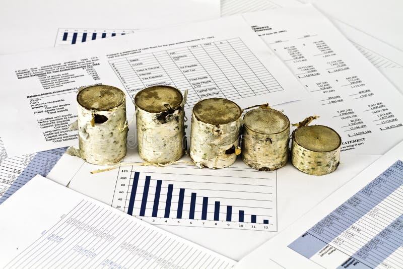 企业analise和桦树木头 免版税库存图片