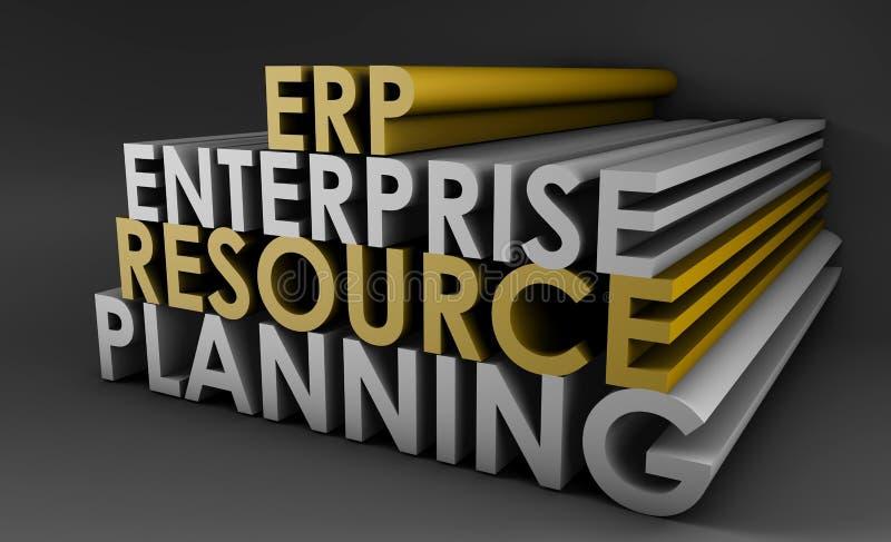 企业erp计划资源 库存例证