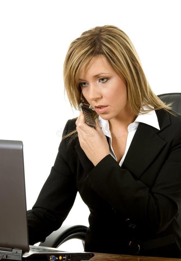 企业execuitive电话 免版税图库摄影