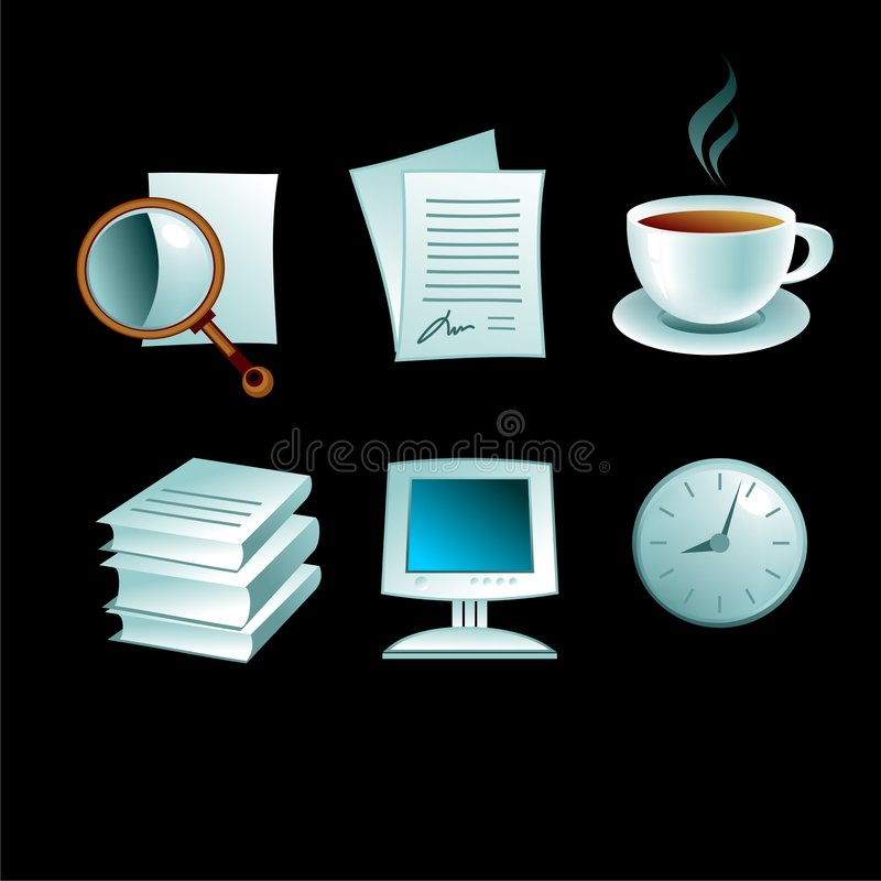 企业iconset 向量例证