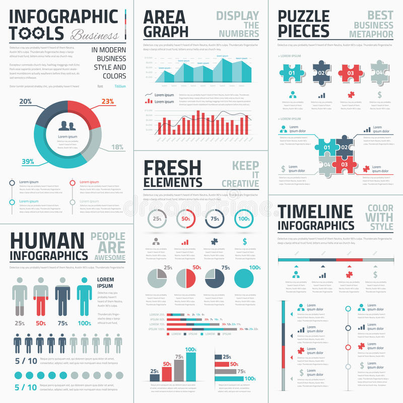企业infographic元素传染媒介例证