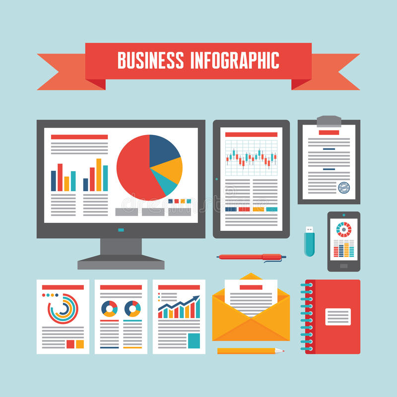 企业Infographic文件-传染媒介概念例证 皇族释放例证