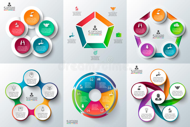 企业infographic模板集合 库存图片