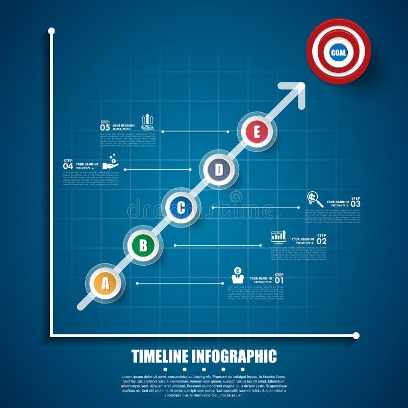 企业infographic模板 数据形象化 向量例证