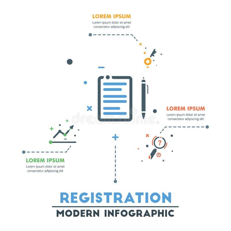 企业infographic模板 现代抽象Infographics Timel 库存例证