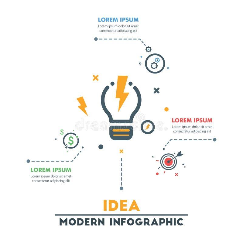 企业infographic模板 现代抽象Infographics Timel 皇族释放例证