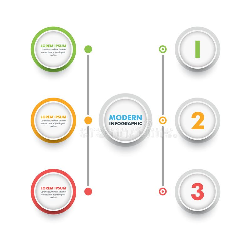 企业infographic模板 现代Infographics时间安排Desig 皇族释放例证