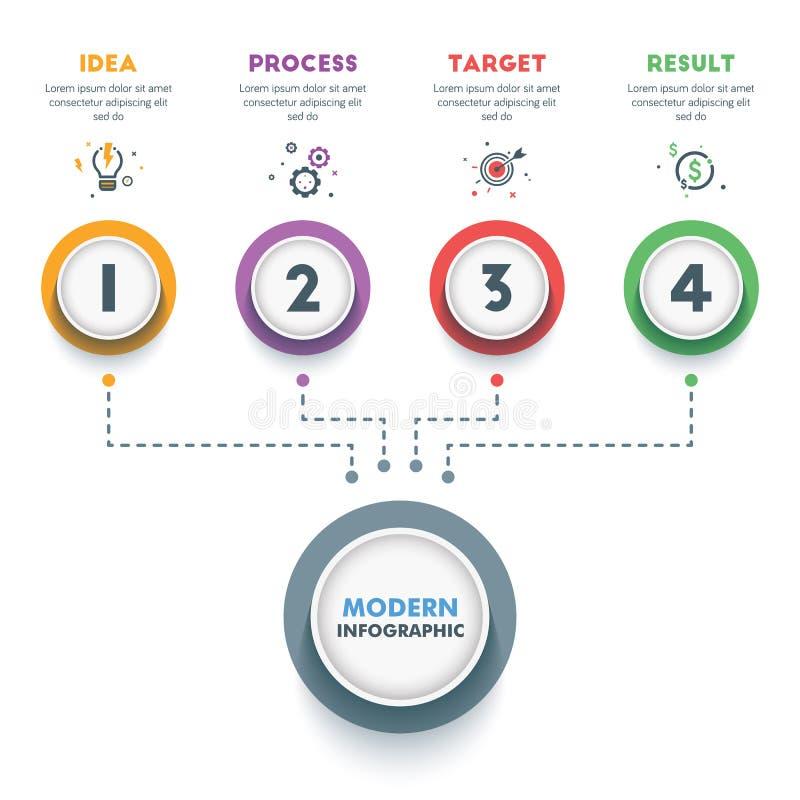 企业infographic模板 现代Infographics时间安排Desig 库存例证