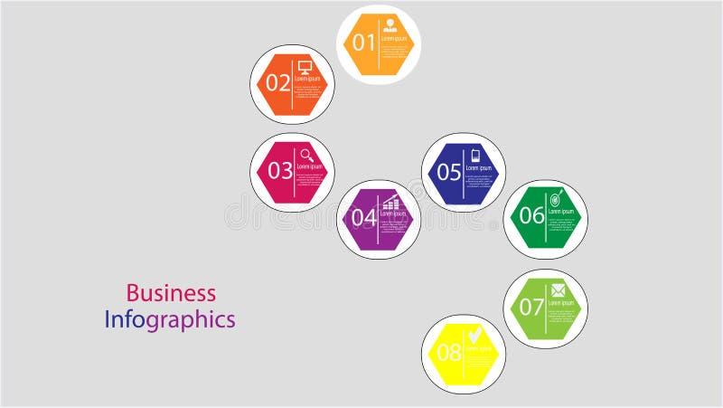 企业infographic模板 库存图片