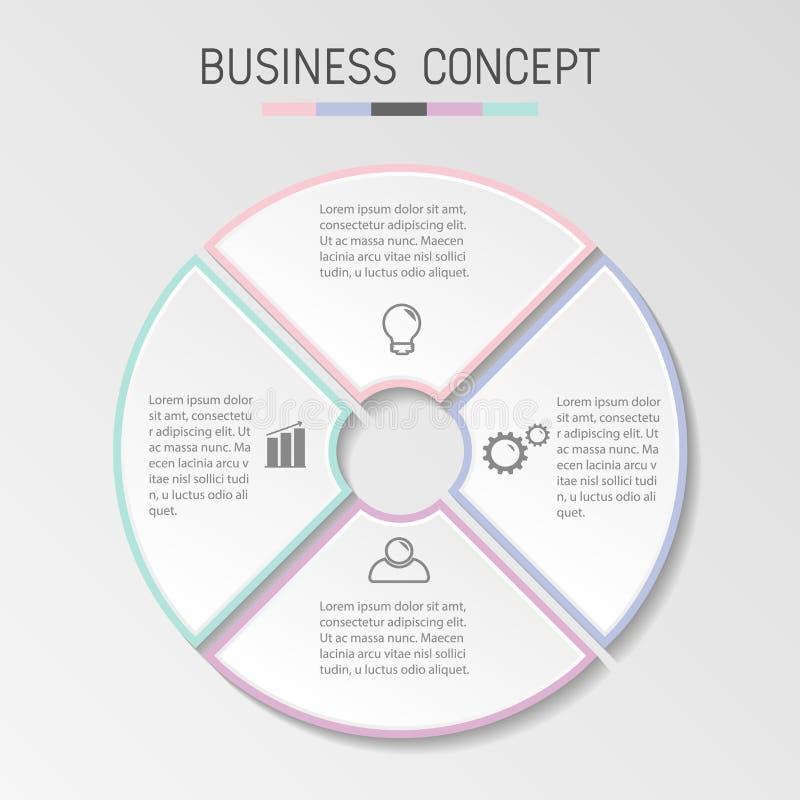 企业infographic模板 库存例证