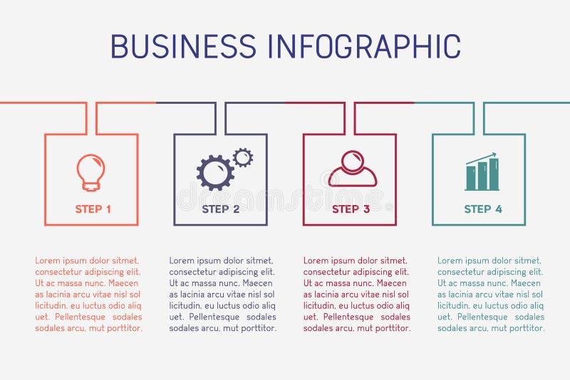 企业infographic模板 皇族释放例证