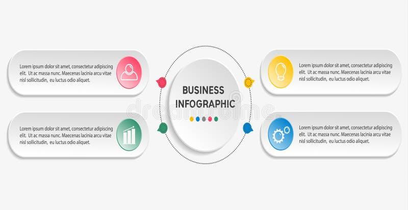 企业infographic模板 向量例证